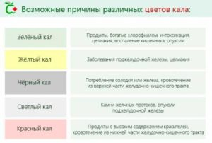 причины цвета кала